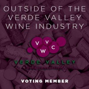 Outside of the Verde Valley Wine Industry Voting Member Badge